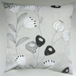 "Cushion Cover in Next Retro Leaf Charcoal 14"" 16"" 18"" 20"" Matches Curtains"